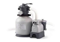 INTEX FILTER POOL SAND PUMP(USED;NOT ASSEMBLED)