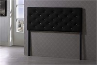 BAXTON STUDIO FAUX LEATHER UPHOLSTERED HEADBOARD