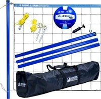 PARK & SUN PORTABLE OUTDOOR VOLLEYBALL NET SYSTEM