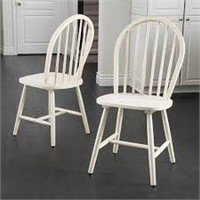 TOTAL OF 2 ANTIQUE WHITE SPINDLE DINING CHAIR(NOT