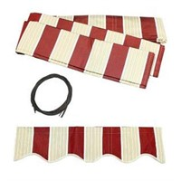 ALEKO FABRIC REPLACEMENT RETRACTABLE AWNING RED