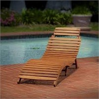 LAHAINA WOOD CHAISE LOUNGE (NOT ASSEMBLED)