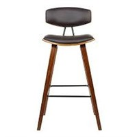 FOX BARSTOOL IN BROWN FAUX (NOT ASSEMBLED)