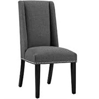 MODWAY BARON FABRIC DINING CHAIR (NOT ASSEMBLED)