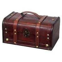 DECORATIVE WOOD TREASURE BOX