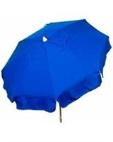 6FT ACRYLIC SOLID PATIO POLE UMBRELLA