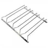 4 ROW STAINLESS WINE GLASS RACK