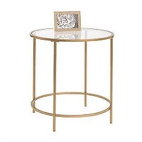 SAUDER ROUND SIDE TABLE(NOT ASSEMBLED)