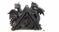 GOTHIC CASTLE DRAGONS BOOKENDS DESIGN