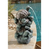 STACKED TURTLES SPITTER PIPED STATUE