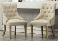 WOOD WINGBAC CHAIRS TOTAL OF 2 (NOT ASSEMBLED)