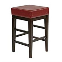 """OSP DESIGNS 25"""" SQUARE LEATHER BARSTOOL (NOT"""