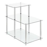 3-TIER GLASS END TABLE (NOT ASSEMBLED)