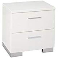 COASTER NIGHT STAND, GLOSSY WHITE (NOT ASSEMBLED)