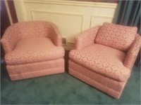 VINTAGE PINK ROUND BACK CHAIRS