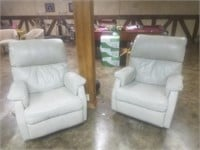 TAN LEATHER RECLINERS MADE BY LEATHER CENTER