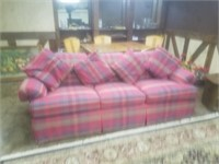 PLAID FOLD OUT COUCH BY J. ROYALE FURNITURE