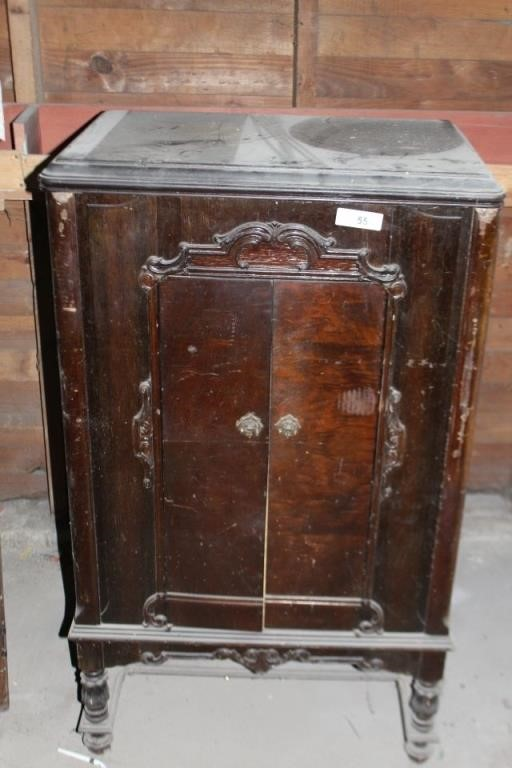 Antique Record Player Cabinet Bontrager Real Estate Auction