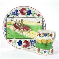 Fine selection of Rabbitware , including a rare roadster plate and baseball mug