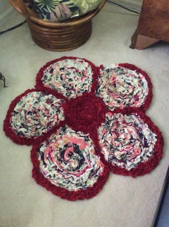 Flower Rag Rug Midland Bid Junkies