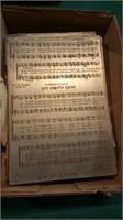 Antique printing plates for hymns