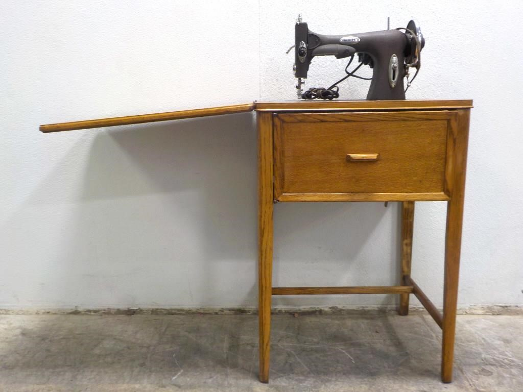 1 Old Antique Sewing Desk With