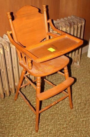 Vintage Wooden High Chair H K Keller