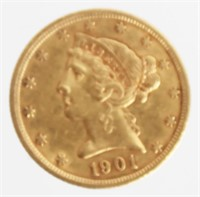 COIN AUCTION - U.S. Gold & Silver Coins, Bullion, Money