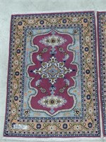 PAIR: ARDEBIL HAND KNOTTED WOOL AREA MATS