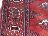 TURKMANN HAND KNOTTED FINE WOOL AREA MAT