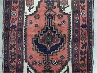PERSIAN HAND KNOTTED WOOL AREA MAT