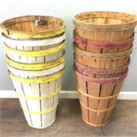 Vintage Lot Of Produce Baskets