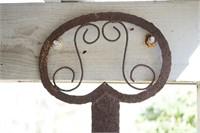 Decorative metal key and light fixture