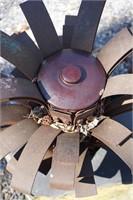 Pineapple style metal outdoor sculpture
