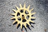 3 painted metal wheel spokes