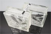 10 Vintage Glass Block
