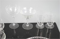 Various Cut and Press Glass Pieces