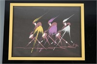 Pair of Framed African Paintings on paper