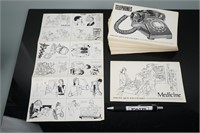 Collection of Vintage Clip Art Books from the 60's