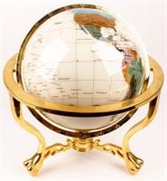 Gemstone Globe on Gold Toned Stand