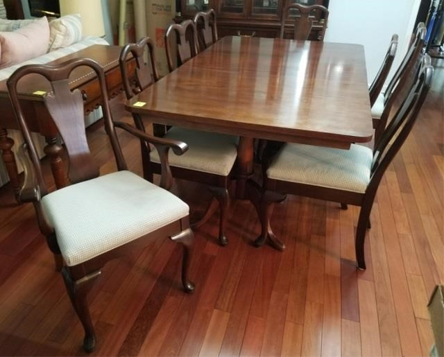 Harden Furniture Co Mahogany Table 8 Chairs John T Henry Auction Co