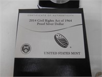 2014 Civil Rights Act Of 1964 Silver Dollar