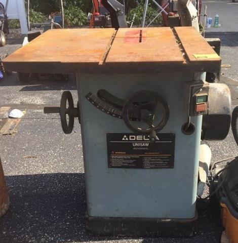 Delta Unisaw Table Saw   Kraft Auction Service