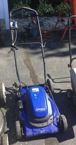 Kobalt KM 210 Electric Lawn Mower | Kraft Auction Service