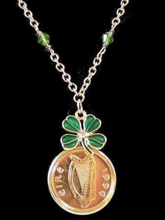 Lucky Irish Penny Pendant and Necklace w/COA   Hammer Down