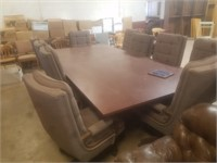 5X10 CONFERENCE TABLE W/10 CHAIRS