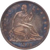 50C 1863 PCGS PR66