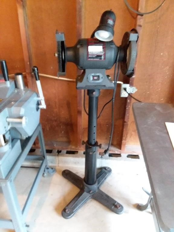 Peachy Craftsman 8 Bench Grinder Baer Auctioneers Realty Llc Ibusinesslaw Wood Chair Design Ideas Ibusinesslaworg