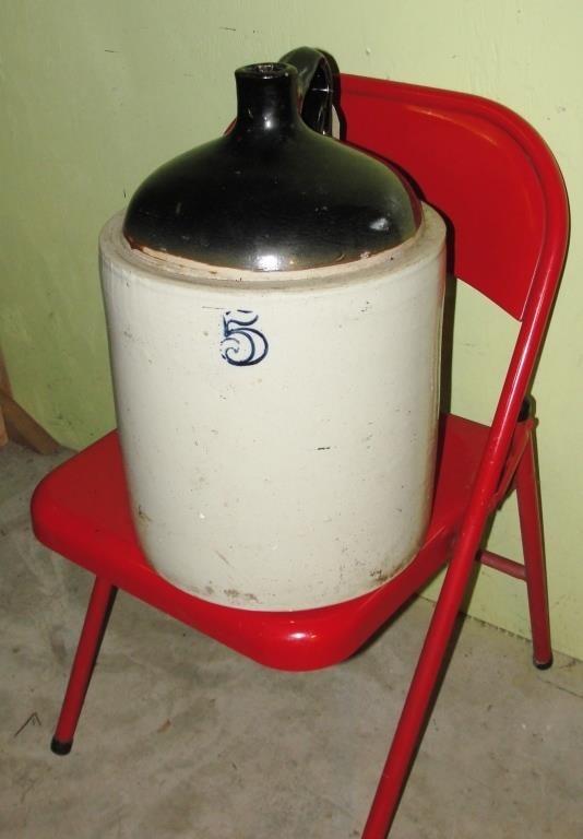 Antique Stoneware Crock Jug 5 Rm