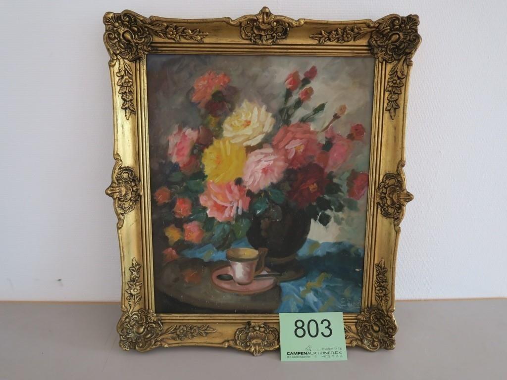 Indrammet Maleri Af E Gert Campen Auktioner A S